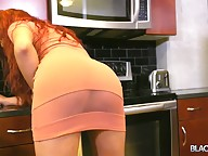 The lovely peach dress Brooklynn has on really compliment her skin complexion. She made couple of poses with her dress on and then eventually takes it off to show off her nice cock and juicy ass-pussy. And for her most awaited BTG performance, Brooklynn c